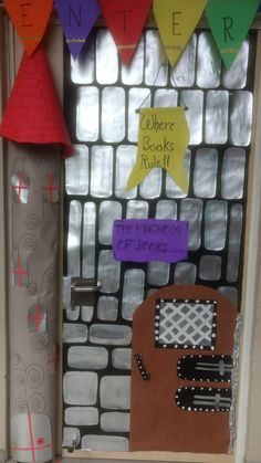 Library door for fairy tale