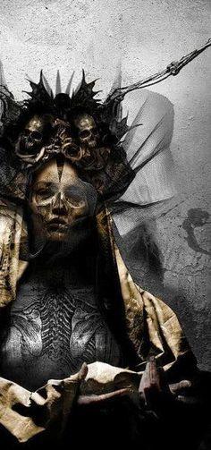 art - Detail from Moonspell Night Eternal artwork -Seth Siro Anton