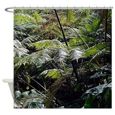 Tropical Fern Forest 03 Shower Curtain