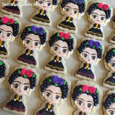 By Beautiful Cookies Mexicali Rose Cookies, Royal Icing Cookies, Sugar Cookies, Cupcakes, Cupcake Cakes, Mexican Cookies, Creative Decor, Event Styling, Cookie Decorating