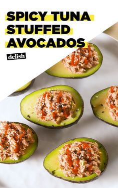 Spicy Tuna Stuffed Avocados Are Way More Satisfying Than SushiDelish