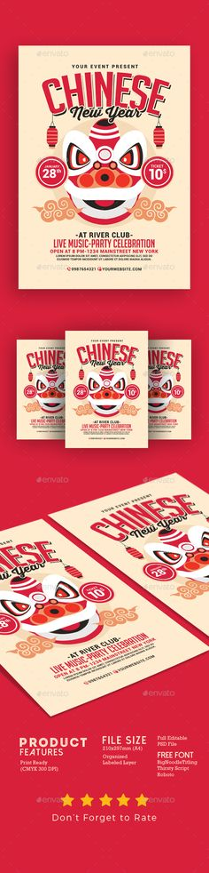 #Chinese New Year Flyer 2 - #Events Flyers
