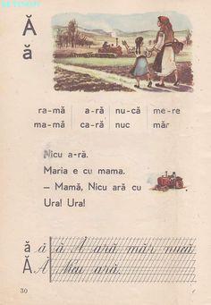 Romanian Language, Vintage School, Nicu, France, Kids Education, Book Illustration, Nostalgia, Activities, Learning
