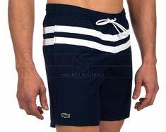Monokini, Boy Shorts, Swim Shorts, Polos Lacoste, Boy Fashion, Mens Fashion, Men's Swimsuits, Camisa Polo, Short Shirts