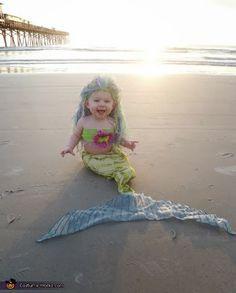mermaid baby halloween costumer
