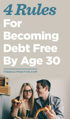 4 Rules For Becoming Debt Free By Age Even more ways to save money at the site Money Tips, Money Saving Tips, Saving Ideas, Dave Ramsey, Devon, Budget Planer, Financial Tips, Financial Planning, Financial Peace