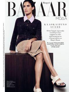 """Delicate Touch"" Sara Sampaio for Harper's Bazaar Greece June 2015"