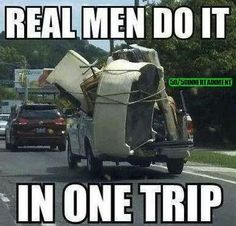 Men need to do alot more then one trip