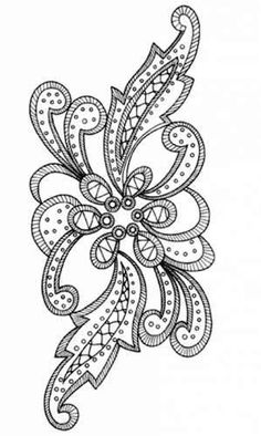 Hand Embroidery Tutorial, Hand Embroidery Stitches, Crewel Embroidery, Embroidery Patterns, Machine Embroidery, Churidhar Neck Designs, Mould Design, Bottle Painting, Irish Lace