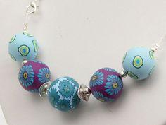necklace, polymer clay, Wellness Wechselkette aus handgefertigten Polymer von polymerdesign