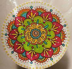 Mandalas Mandala Painting, Dot Painting, Ceramic Painting, Stone Painting, Ceramic Art, Stall Decorations, Arte Van Gogh, Talavera Pottery, Ceramic Pottery