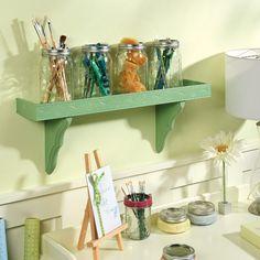 Build a shelf for Mason Jars