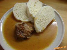 VEPŘOVÁ KÝTA V KUNOVJANCE-výborná omáčka k rýži,knedlíkům.... Czech Recipes, Ethnic Recipes, Sweet And Salty, Stew, Mashed Potatoes, Pork, Menu, Czech Food, Whipped Potatoes