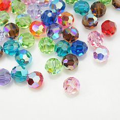 colorful swarovski crystal beads