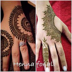 Pretty finger mehendi designs
