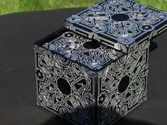 Celtic rune box inner lid engraved