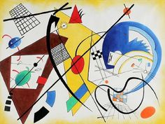 wassily kandinsky throughgoing line ii painting & wassily ...