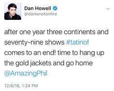 This made me cry <<<< I craft because I was at the last TATINOF just before he tweeted this