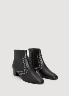 f44c545bddf872 Botki z ćwiekami - Buty dla Kobieta | OUTLET Polska Mango France, Studded  Ankle Boots