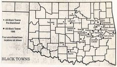 13 Best Maps of Oklahoma's Black Towns images in 2013 ...