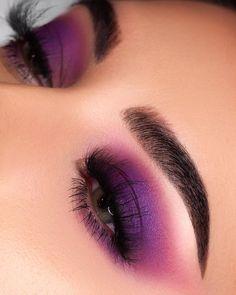 Purple eyeshadpw eye makeup Such a Gem Palette Shy Girl Lashes (Code NESSA) Stellar Mascara (Code NESSA) Brow Wiz in Dark Brown Clear Brow Gel Loose Highlighter in So Hollywood Summer Eye Makeup, Purple Eye Makeup, Makeup Eye Looks, Colorful Eye Makeup, Smokey Eye Makeup, Cute Makeup, Eyeshadow Makeup, Makeup Inspo, Makeup Art
