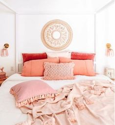 The Most Bohemian Casual Living Rooms of All Time Are in This Country,Bohemian Bedroom Decor Ideas Master Bedroom Makeover Bohemian Bedroom Decor, Home Decor Bedroom, Living Room Decor, Bedroom Ideas, Funky Bedroom, Coral Bedroom, Bedroom Neutral, Cream And Pink Bedroom, Beachy Room Decor