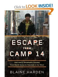 One of the BEST books EVER.  This book/memoir is about a young man that was born/liven in a North Korea prison camp. These camps have been around/are around longer than the Nazi's. He is the only known survivor to have been born and escaped from the camps. He saw his mother as competition for food; he witnessed his mother and older brother being killed.  He escaped when he was 23 years old. his story is n inspiration to us all.