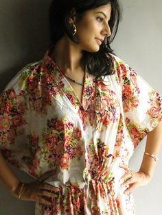 White Floral - Nursing hospital gown. Want this for home for recovery time comfy clothes. Only def want the mint color.