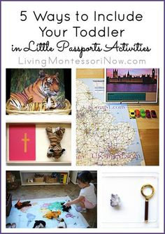 Do you wonder what to do with your toddler when your older children are having fun with their Little Passports activities? Here are 5 Montessori-inspired ways to include your toddler in the Little Passports fun.
