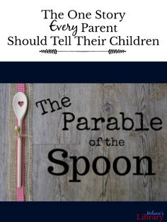 The Parable of the Spoon, the difference between heaven and hell, service