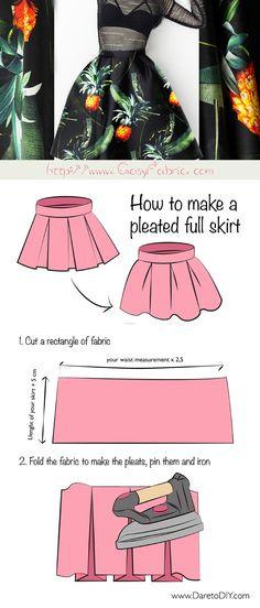 FREE Pleated Skirt Tutorial