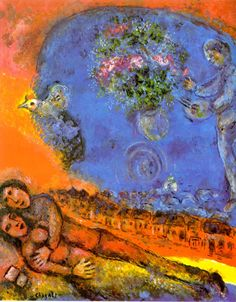 """I have always painted pictures where human love floods my colours."" ~ Marc Chagall"