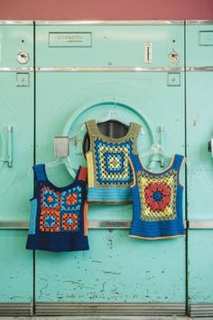 These crochet vest are fabulous and a little vintage. I love the granny squares. All Tribbles Vests