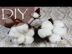 Cotton own hands Dyi Crafts, Decor Crafts, Flower Crafts, Diy Flowers, Cotton Plant, Paper Plants, Crepe Paper Flowers, Master Class, Our Wedding