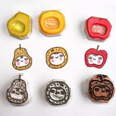 Fruits stamps by Le Petit Pig, via Flickr