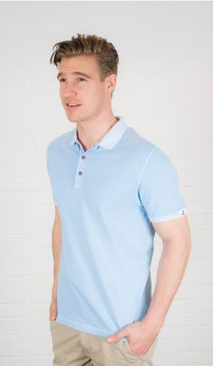 light blue polo Shirt, 100% cotton, perfect for the upcoming summer. Discover more styles of Colours & Sons on Dress and Friends ! #mensstyle #musthave #mensfashion #gentleman