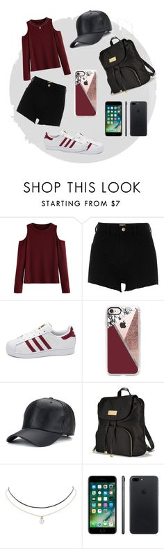 """#Red"" by westie884 ❤ liked on Polyvore featuring WithChic, River Island, adidas, Casetify, Victoria's Secret, Humble Chic, Apple and polyvorefashion"
