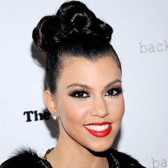 Kourtney Kardashian - Transformation - Hair - Celebrity Before and After