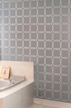 Wall Stencil Metro - Reusable stencils for walls instead of wallpaper - DIY decor. $39.95, via Etsy.
