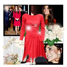 Style Kate Middleton :) by abcde-979 on Polyvore featuring Prada, red, katemiddleton and duchessofcambridge