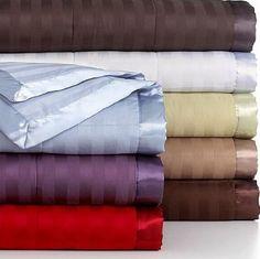 Amazon.com - Charter Club Damask Stripe King Down Alternative Blanket Crimson (Red) -