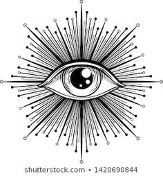 Egyptian Eye Tattoos, Third Eye Tattoos, All Seeing Eye Tattoo, Torso Tattoos, Body Art Tattoos, New Tattoos, Tattoos For Guys, Blackwork, Providence Tattoo