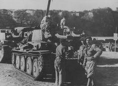 Tanks Pz.Kpfw.38 (t) of the Romanian 2nd Tank Regiment in the Crimea.