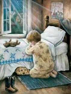 """Paula Vaughan / """"Little Cowboy"""" Don't forget to pray! Little Cowboy, Little Boys, Cowboy Cowboy, Cowboy Baby, Camo Baby, Bedtime Prayer, Prayers For Children, Christian Art, Vintage Pictures"""
