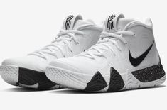 Look For The Nike Kyrie 4 Oreo Now A few colorways of the Nike Kyrie 4 released this weekend and one Girls Basketball Shoes, Volleyball Shoes, Basketball Sneakers, Sneakers Nike, Basketball Stuff, Nice Jordans, Kyrie Irving Shoes, Nike Kyrie, Nike Air Force