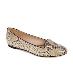 Blaise Flat Moccasin by Loeffler Randall - can go to work as both a patterned or a neutral shoe