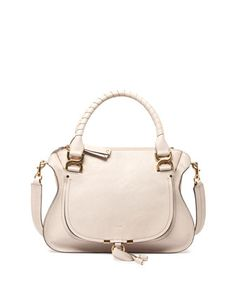 Marcie Double-Carry Satchel Bag, Beige by Chloe at Bergdorf Goodman.