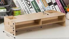 New Desk Storage Wood DIY Increase Computer Display Keyboard Placement Desk Organizer Prevention Of Cervical Spondylosis