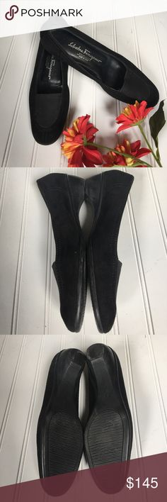 """Salvatore Ferragamo Suede Shoes Excellent condition, maybe worn a few times, shoes with slight heel at 1"""" Salvatore Ferragamo Shoes Flats & Loafers"""