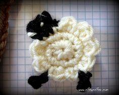 Niftynnifer's Crochet & Crafts: Free Sheep Ewe Motif Crochet Pattern By Nifftynnifer PDF